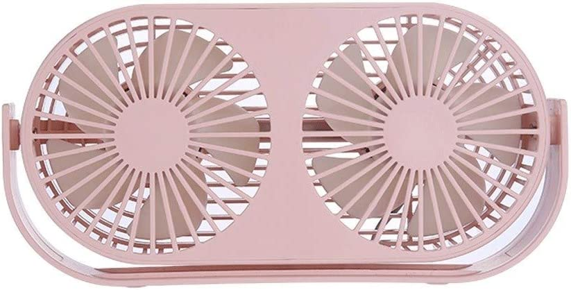Portable Design Small Fan Computer Cooling Fan Desktop Gale Silent Fan Double Head Design 3 Colors Optional Exquisite Appearance CML Home Small and Portable Mini Fan for Dormitory Bedroom Office