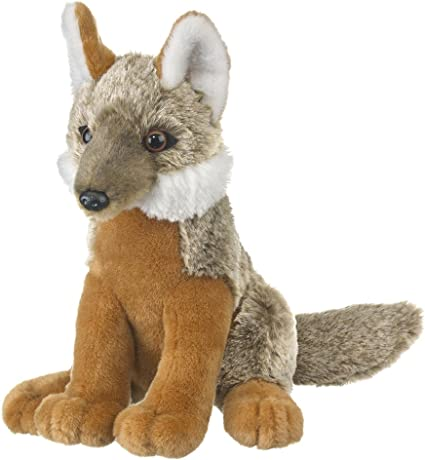 Wild and Wonderful Gray Fox Pup Plush Stuffed Animal From Wildlife Artists