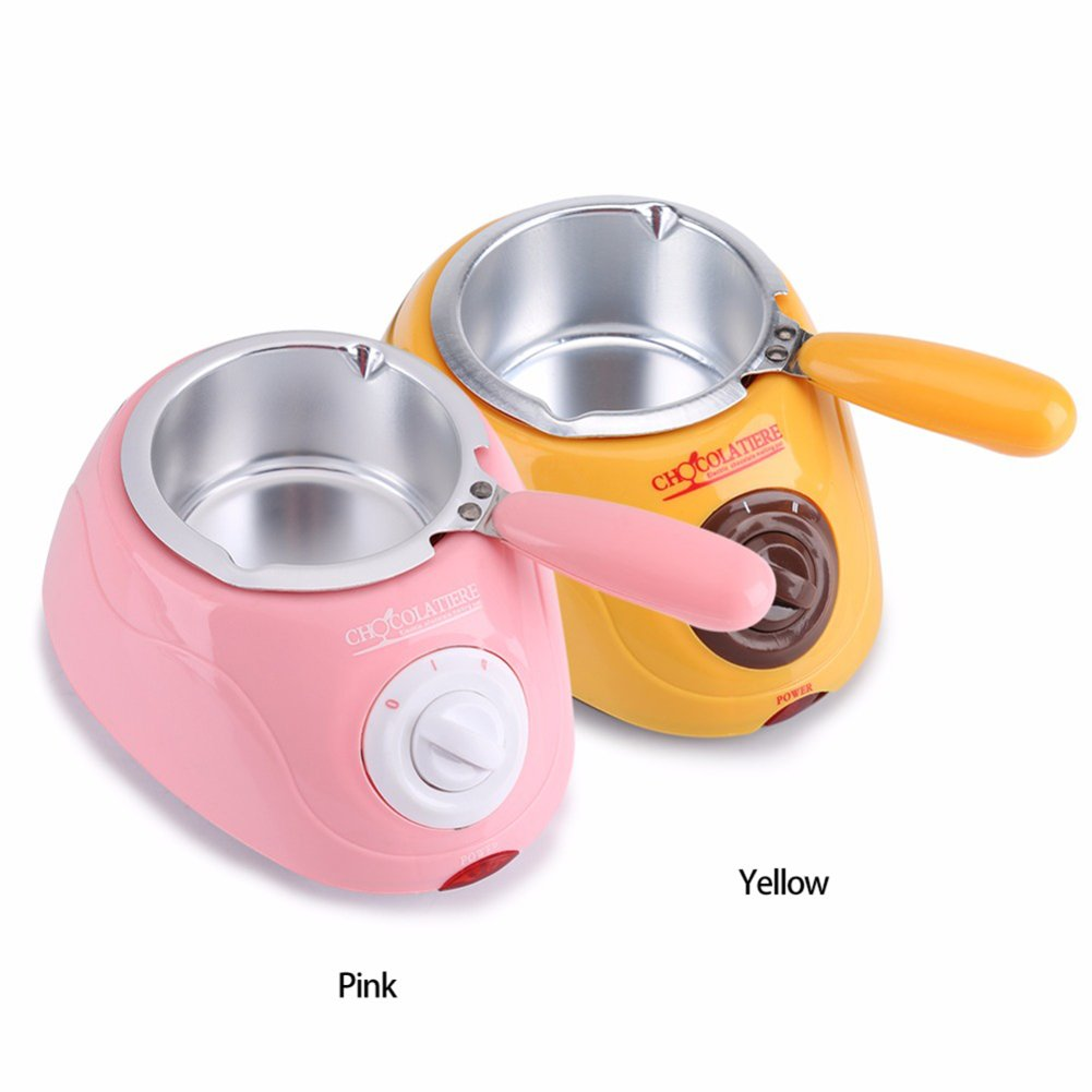 Aoile Hot Chocolate Melting Pot Electric Fondue Melter Machine DIY Baking Tool Yellow European Regulation 220V by Aoile (Image #5)