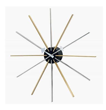 Telechron Asterisk Clock, Silver Gold