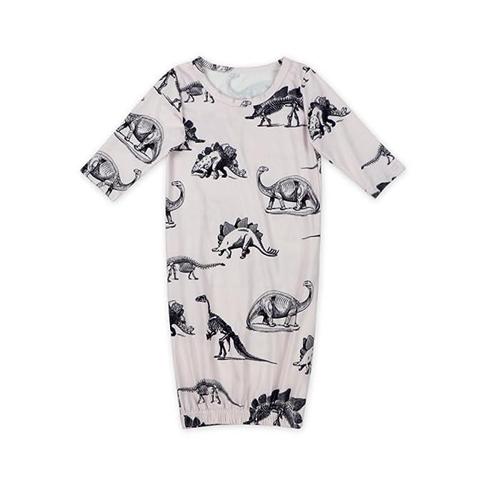Amazon.com: Anbaby Long Sleeve Soft Newborn Baby Sleep Gowns ...