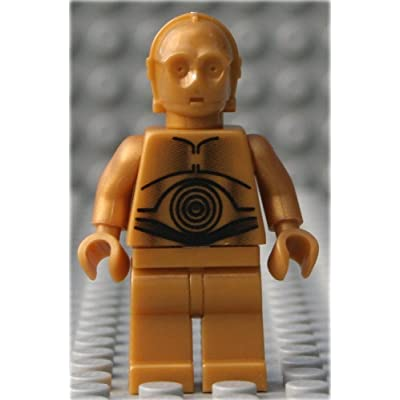 Star Wars Lego Minifigure C3PO C-3PO (Pearl Gold Classic Version): Toys & Games