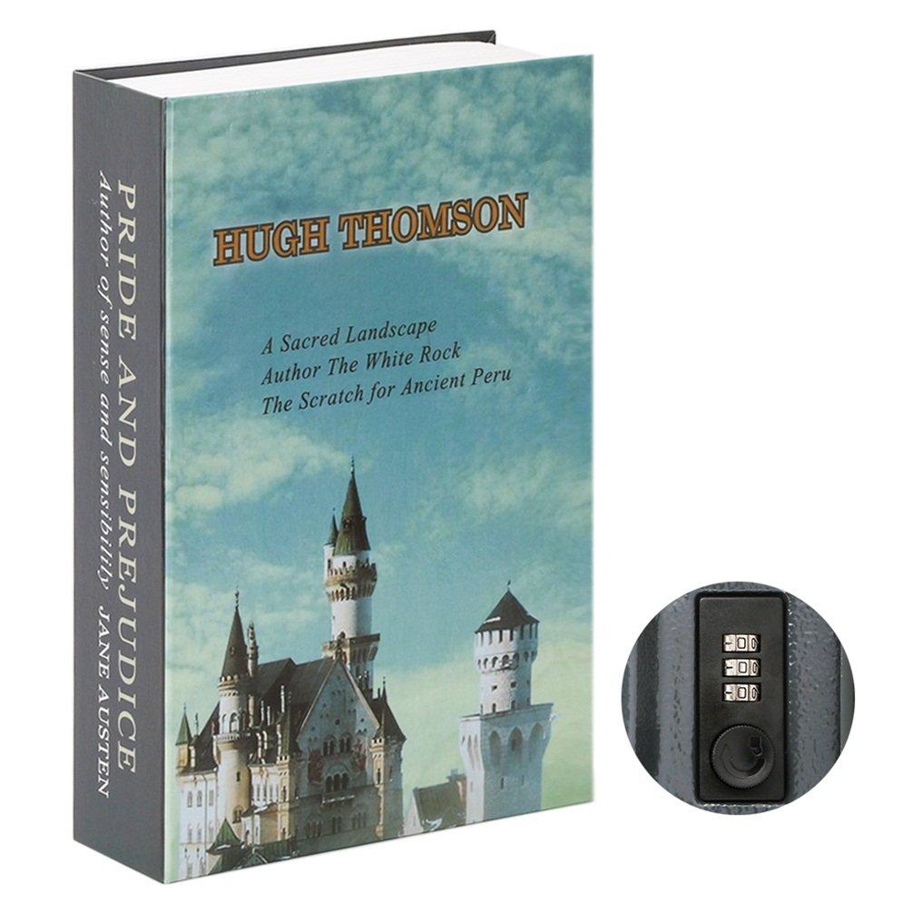 jssmst Diversion Book Safe with組み合わせロック、Secrect HiddenセーフロックボックスLarge 2018、smbs019 L ブルー B0788NR3FZ L|Architecture Architecture L