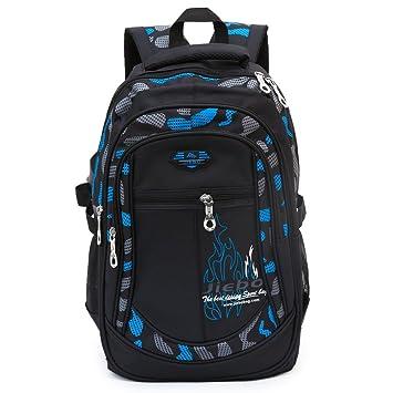 Mochila de la escuela del estudiante para los muchachos para la escuela del estudiante del niño del niño (Blue): Amazon.es: Equipaje