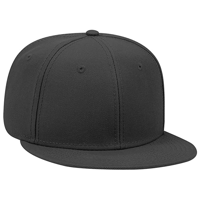 f51630db9db Otto Flatbill Snapback Hat Wool Blend with NoSweat Hat Liner (Black, 1)