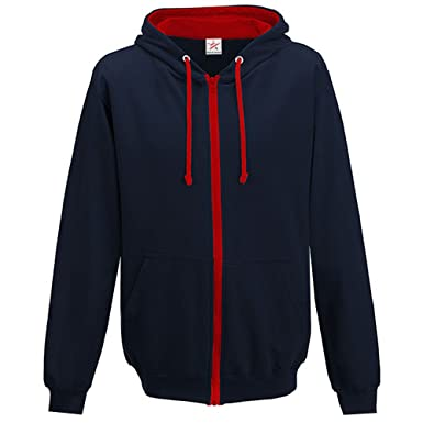 28107d2a5a8c Star and Stripes Contrast Navy with Red Zip up Hoodie