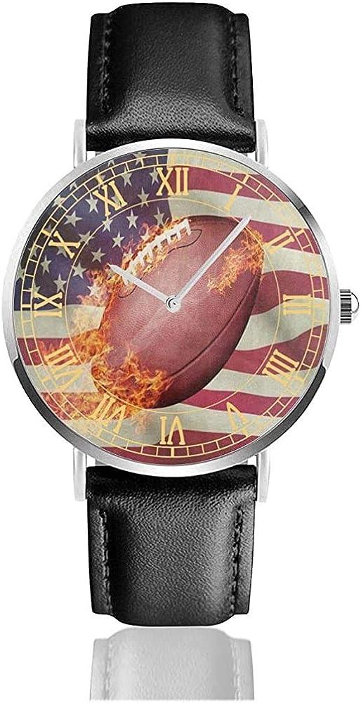 Balón de fútbol Americano Sport Fire Relojes para Hombre Bandas de ...