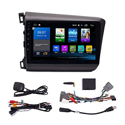 Android 9.1 Autoradio Car Navigation Stereo Multimedia Player GPS Radio 2.5D Touch Screen for Honda Civic 2012-2015: GPS & Navigation
