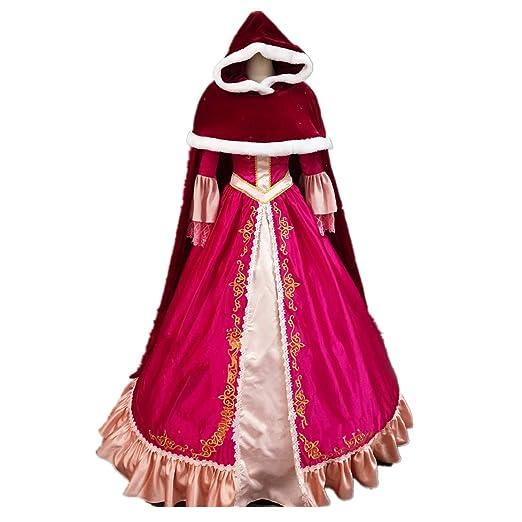 Amazon Com Adult Female Dress Beauty Princess Belle Cosplay Costume