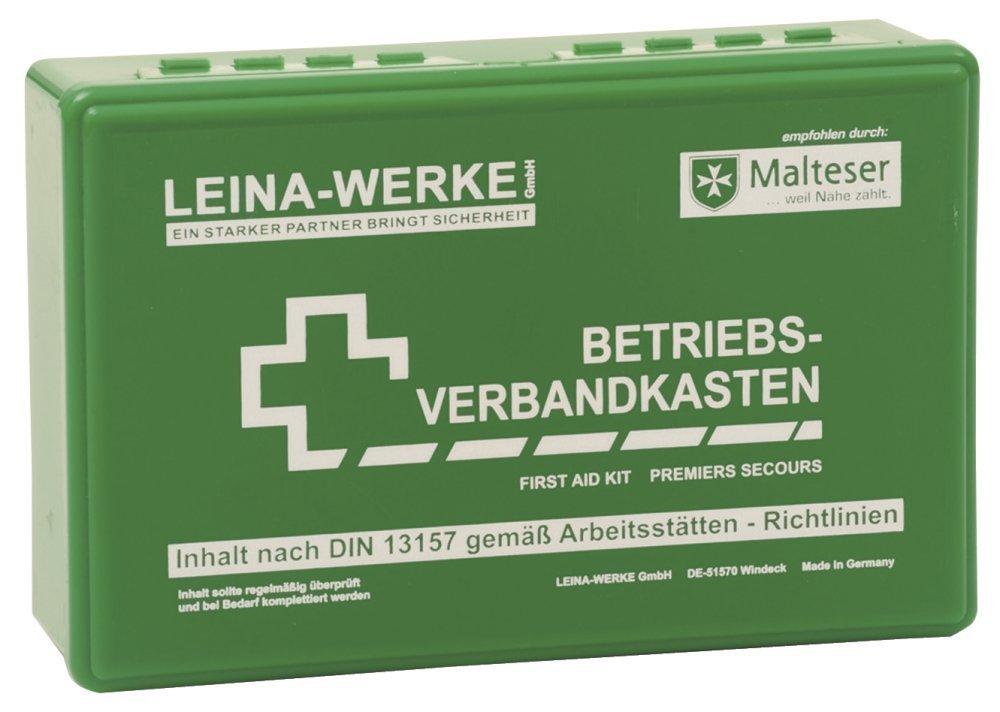 Leina Werke LEINA Betriebsverbandkasten, Inhalt DIN 13157, grà ¼ n grÃŒn Leina-Werke GmbH REF 20001
