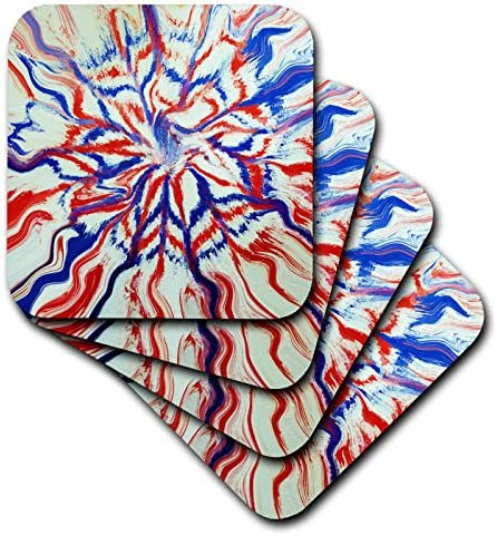 Set of 4 3dRose cst/_22650/_1 USA Soft Coasters