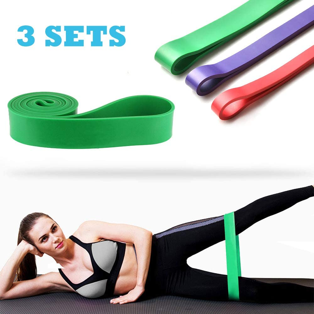 Heavy Duty Resistance Bands Loop Exercise Sport Fitness Tube Home Yoga Gym UK