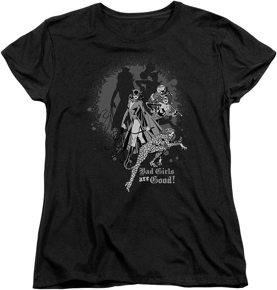 Wicked Tees Womens DC Short Sleeve BAD GIRLS ARE GOOD Medium T-Shirt Tee