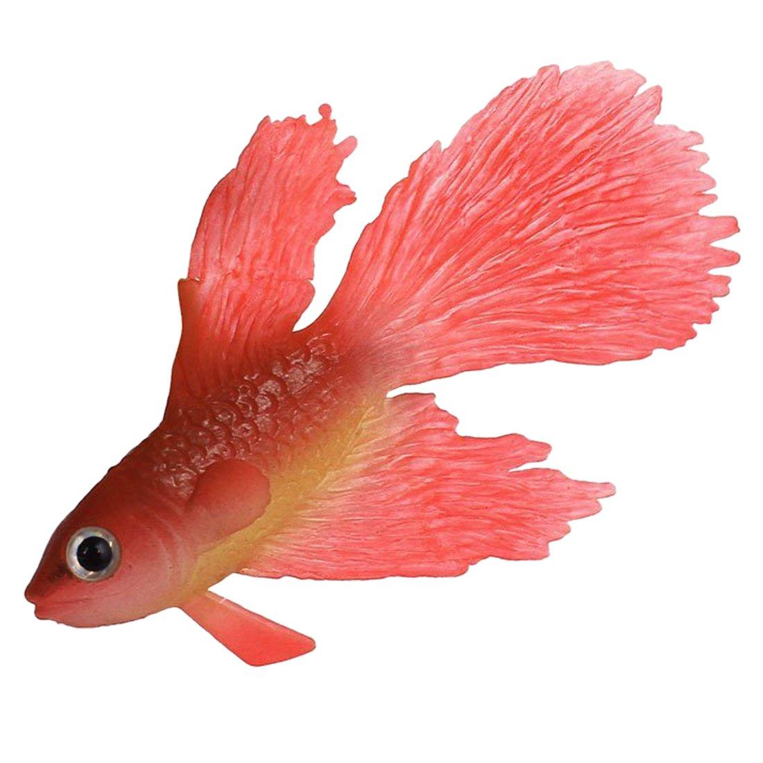 Peces artificiales - TOOGOO(R)Ornamento de peces artificiales de simulacion de ventosa de acuario de silicona Rojo: Amazon.es: Hogar