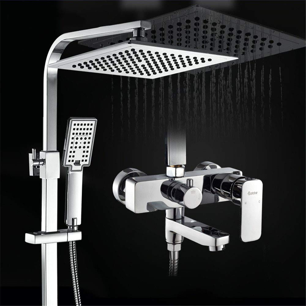 Hlluya Professional Sink Mixer Tap Kitchen Faucet Shower Set Bathroom Taps booster bath shower set rain showers only.