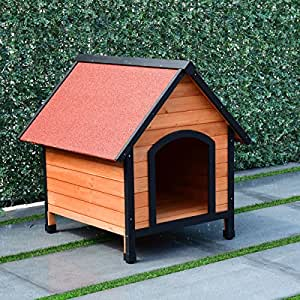 Amazon.com : TANGKULA Dog House Pet Outdoor Bed Wood