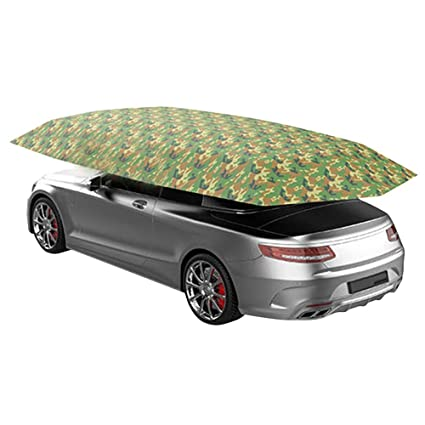 New Outdoor Car Vehicle Tent Car Umbrella Sun Shade Cover Oxford Cloth Polyester Covers Without Bracket Silver TOOGOO 4.5x2