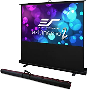 Amazon Com Elite Screens Ezcinema 2 Manual Floor Pull Up With Scissor Backed Projector Screen 84 Inch 16 9 Portable Home Theater Office Classroom Projection Screen With Carrying Bag F84xwh2 Electronics