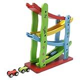 Cooltechstuff - New Car Race Run Track Racing Speed Wooden Toy Slider Click Clack Kids Childrens