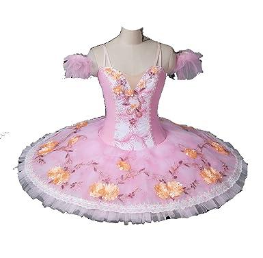 1344f9044 Amazon.com  Professional Ballet Pancake Tutu Dress in light pink and ...