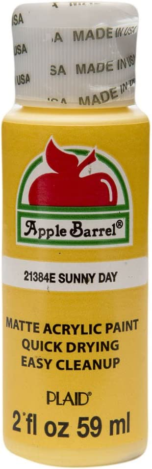Apple Barrel Acrylic Paint in Assorted Colors (2 oz), 21384, Sunny Day