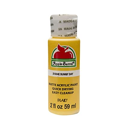 Apple Barrel Acrylic Paint In Assorted Colors 2 Oz 21384 Sunny Day