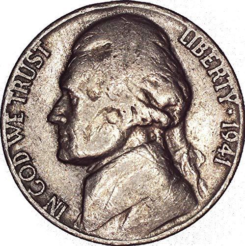 1941 No Mint Mark Jefferson Nickel 5C Seller Very Fine (Jefferson Mint Nickel Ngc)