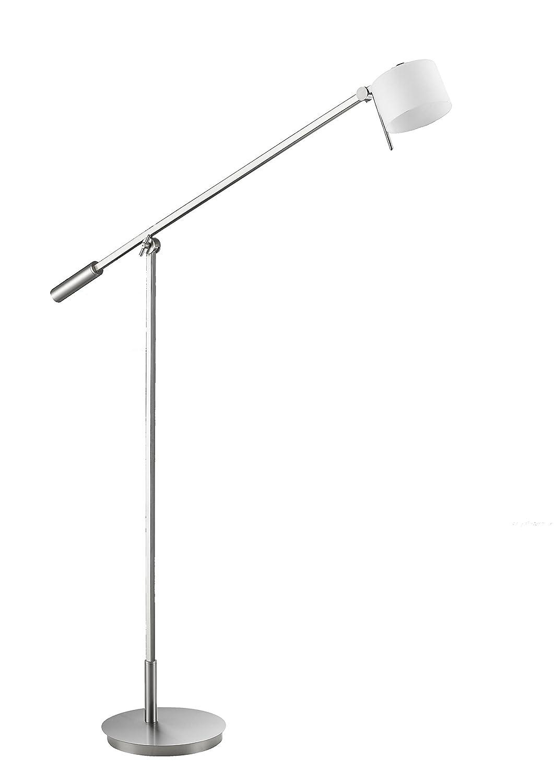 Trio Leuchten Leuchten Leuchten LED Pendelleuchte, Integriert, 6 W, Nickel Matt, Glas Opal Weiß, 4-flammig 03a390