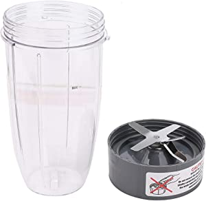 32oz Cup and Extractor Blade Replacement Parts Blender Accessories Compatible with Nutribullet 600W/900W Models NB-101S NB-101B NB-201