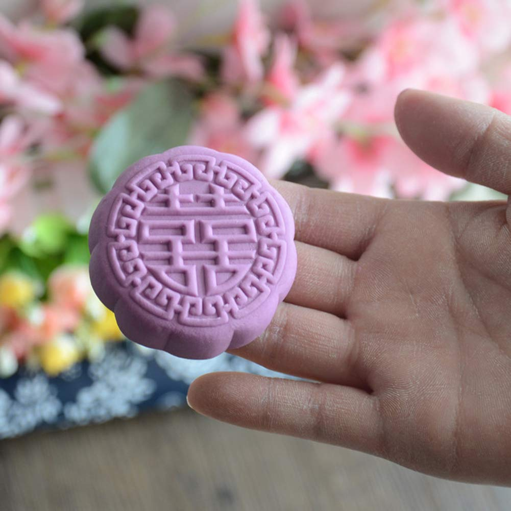 GEF Moon Cake Mold, Pear Woodmoon Cake Decor Pastry Biscuit Mold Mould Flower DIY Wood Baking Tools by GEF (Image #4)