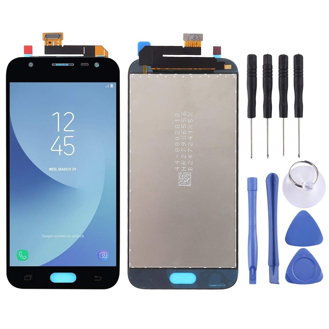Tianwaihongyan LCD Screen and Digitizer Full Assembly for Galaxy J3 (2017), J330F/DS, J330G/DS(Gold) lichuang (Color : Black) by Tianwaihongyan