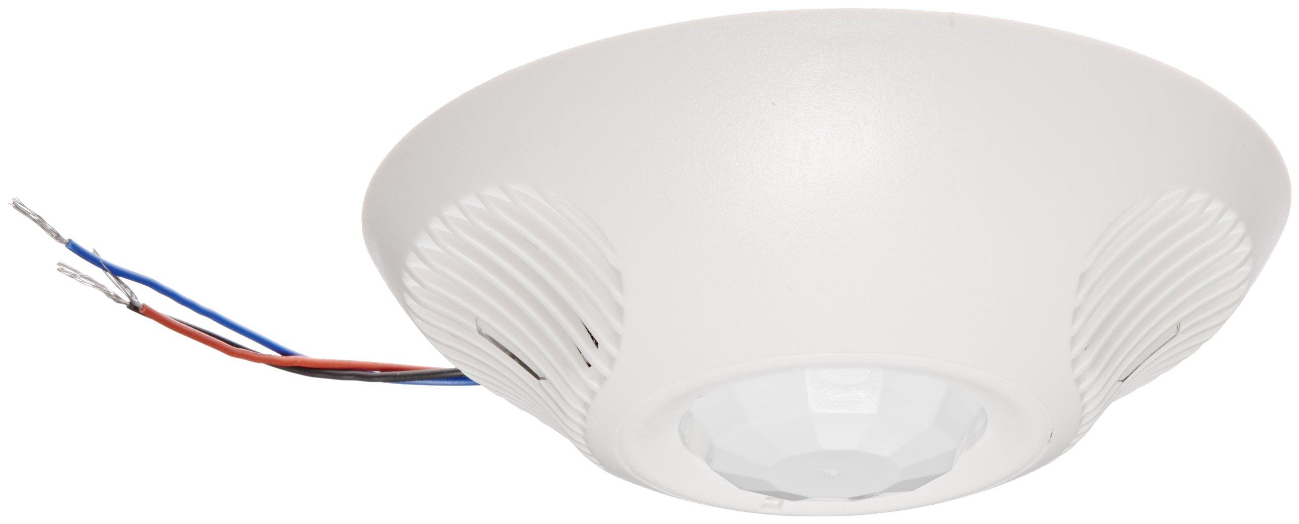 Hubbell ATD2000C Ceiling Sensor, Adaptive Technology, Ultrasonic, Passive Infrared, White, 2000sqft Max Sensing Range by Hubbell