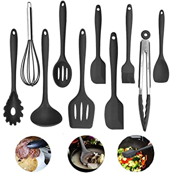 Juego de utensilios de cocina Xpork, 10 piezas de silicona para cocina, herramientas de
