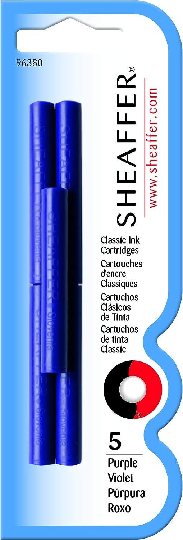 Sheaffer Classic Cartuchos de tinta de recambio para pluma estilogr/áfica color azul lavable deluxe