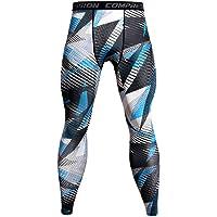 Pantalones de Compresión Mallas Hombre Secado Rápido Transpirable Leggings Alta Elasticidad para Running, Yoga,Fitness