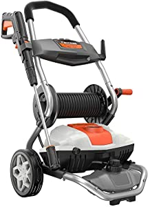 PAXCESS Pressure Washer, 2150PSI 1.76GPM Electric Power Washer Machine with On-Board Hose Reel, Adjustable Nozzle, Detergent Tank for Car/Driveway/Fence/Sidewalk/Patio Furniture/Deck Cleaning
