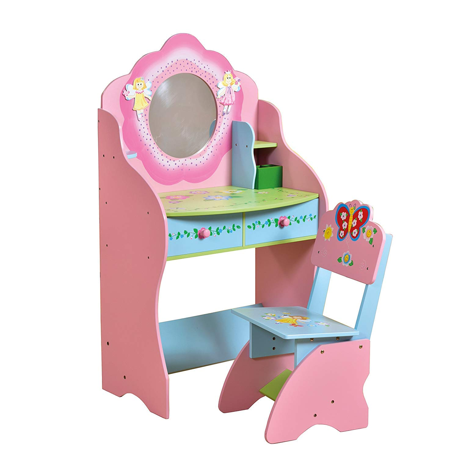 Large WODENY Childrens Vanity Table with Drawer