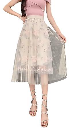 Falda Tul Mujer Verano Elegante Cintura Alta Transparentes Bonita ...