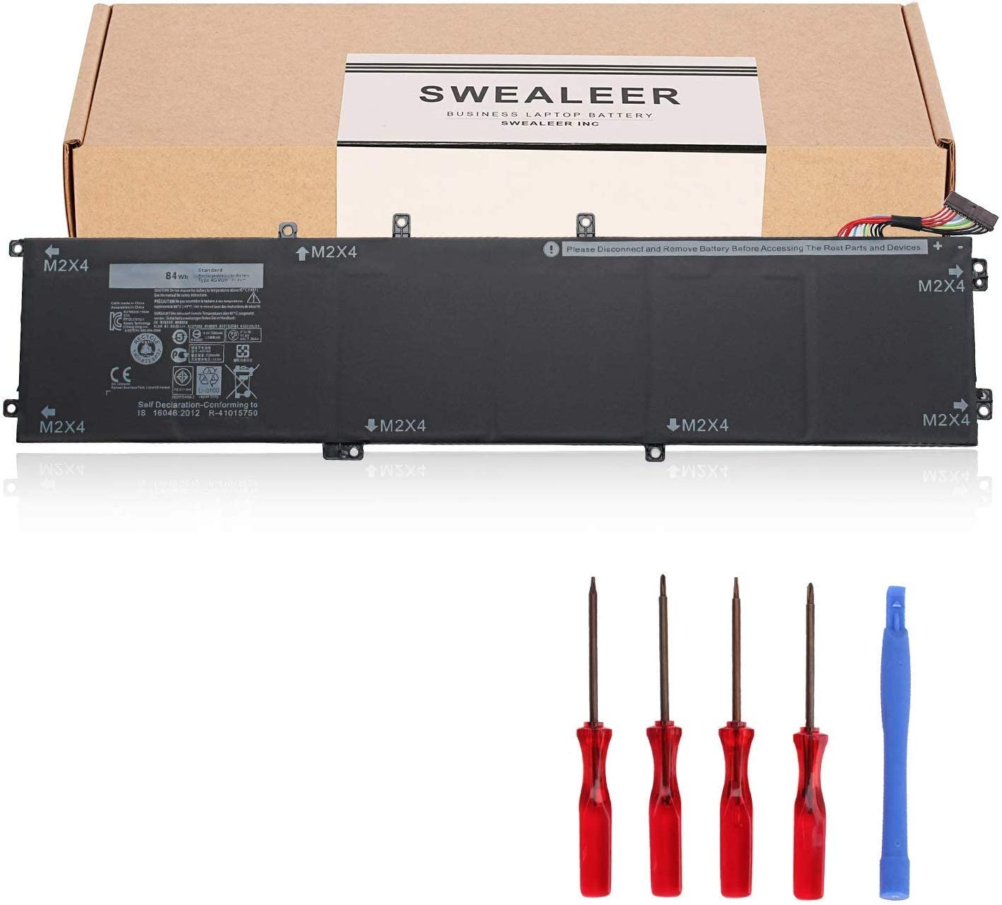 SWEALEER 4GVGH Battery Compatible with Dell XPS 15 9550 Precision 5510 Replacement for 1P6KD 84Wh High Capacity Laptop Batteries [New Li-ion 6-Cell 11.4V 4gvgh]
