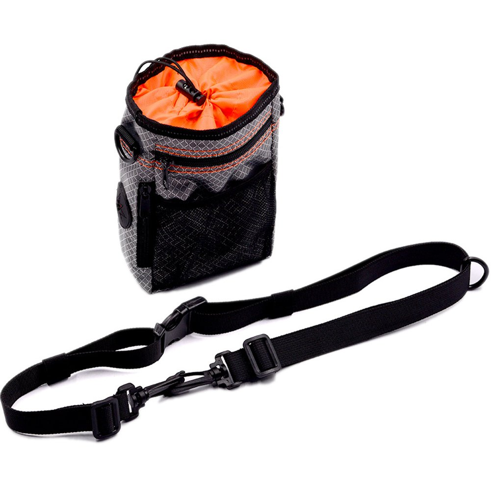 Dog Treat Pouch, Professional Quality Bag, Pet Snack Bag Built In Poop Bag Dispenser with Adjustable Waist Belt and Front Zippered Pocket for Easily Carrying Pet's Snacks and Toys