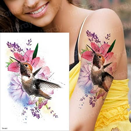 Handaxian 3pcs Tatuaje Pegatina Tatuaje Duradero Tatuaje de Pavo ...