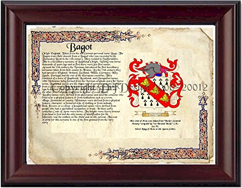 bagot-coat-of-arms-family-history-11-x-13-wood-framed-on-fine-paper