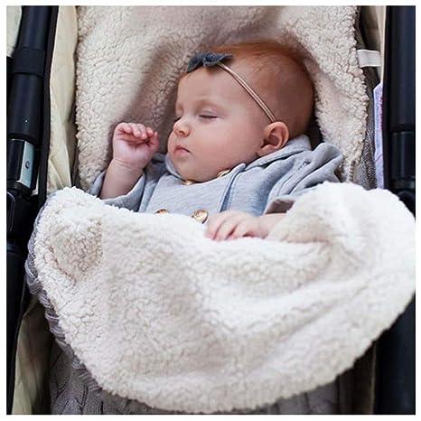 Miyanuby Saco de Dormir para Bebés, Suave Forro Polar de Invierno Saco de Dormir de