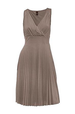 Heine - Best Connections Damen-Kleid Plissee-Kleid Grau Größe 40 ...