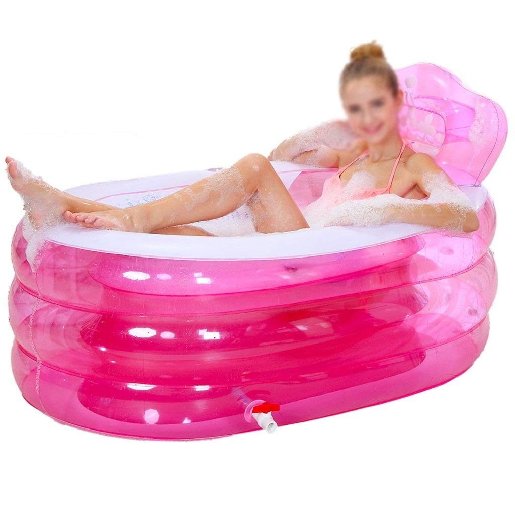 Folding Bathtub, Inflatable Bathtub Thickened Adult Bathtub Folding Bathtub Children Bathtub Plastic Portable Bathtub GAOFENG (Color : A, Size : 1609075cm)