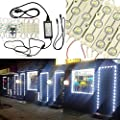 KAPATA 25FT LED Storefront Lights Window Light Kits LED Bulb For Indoor/Outdoor Decoration Lighting SMD5630 DC12V