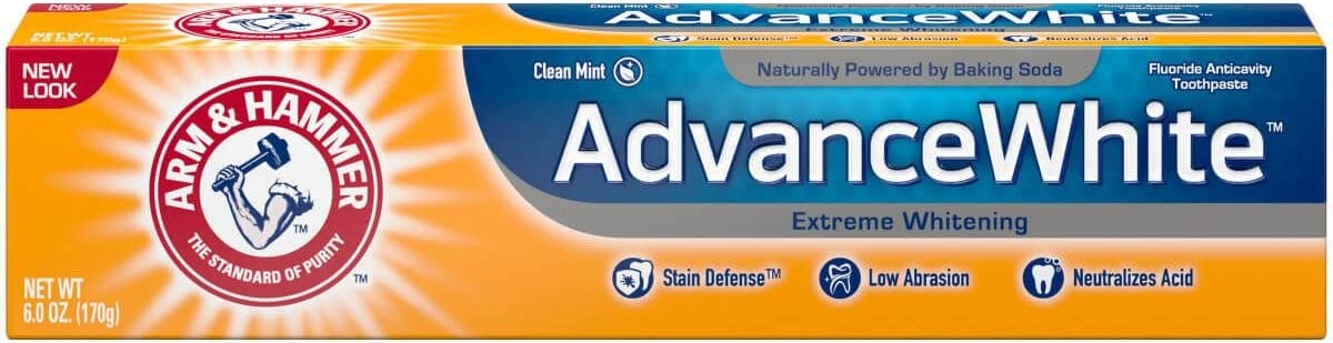 ARM & HAMMER Advance White Extreme Whitening with Stain Defense Toothpaste, 6 oz (Pack of 3)