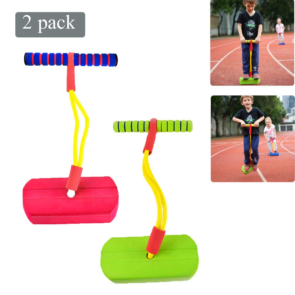 Pogo Stick Children's Jumping Stick Toy Bouncing Bubble Jumper Durable for Boys and Girls,F