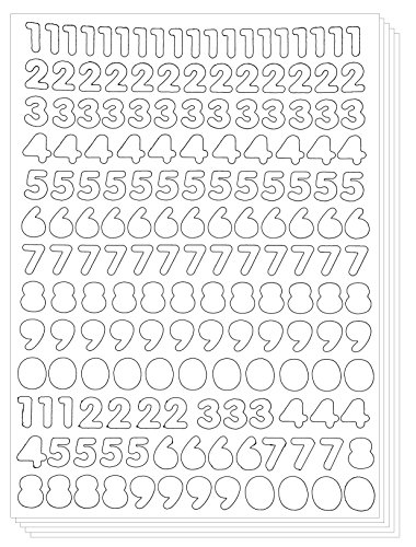 Amazon.com: Numbers Arabic Sticker - Primary Digit Count Label ...