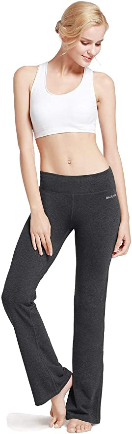 Fliegend Femme Pantalon de Yoga Taille Haute Pantalon Bootcut Flare Pantalon de Jogging Gym avec Cordon Stretch Pantalon de Sport Loisir